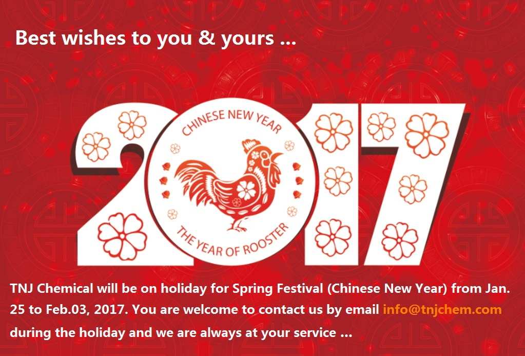 TNJ Chemical on Spring festival holiday